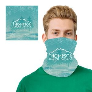 Winter Holiday Design 2 Layer Cooling Fiber Headband Mask